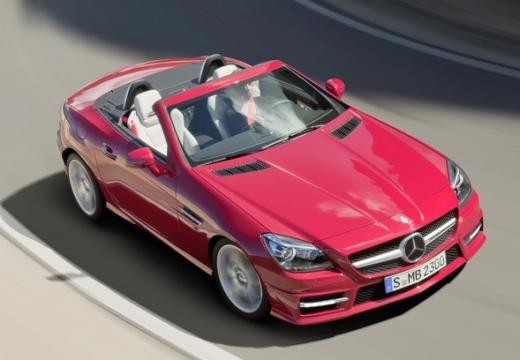 MERCEDES-BENZ Klasa SLK SLK R 172 roadster czerwony jasny przedni prawy
