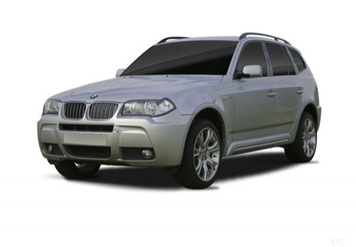 BMW X3 kombi silver grey przedni lewy