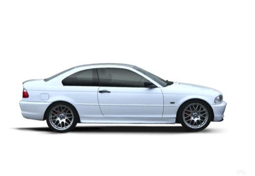 BMW Seria 3 coupe biały boczny prawy