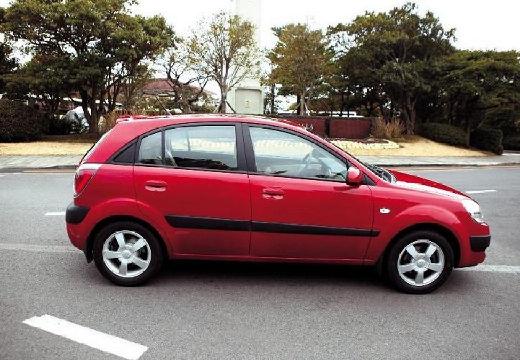 KIA Rio III hatchback czerwony jasny boczny prawy