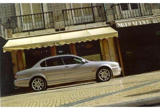 JAGUAR X-Type I sedan silver grey boczny prawy
