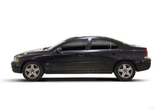 VOLVO S60 II sedan czarny boczny lewy