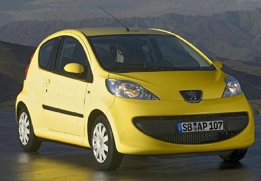 PEUGEOT 107 hatchback żółty przedni prawy