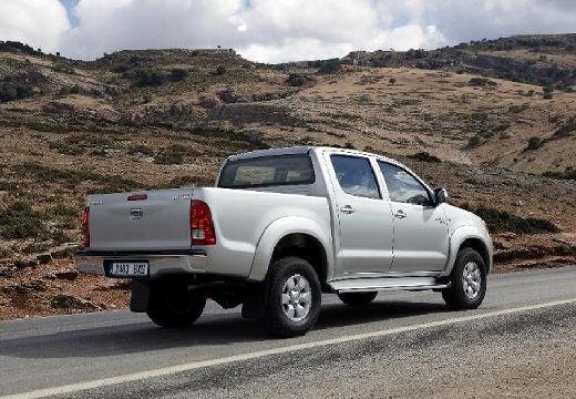 Toyota HiLux III pickup silver grey tylny prawy