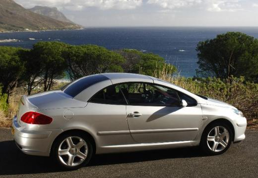 PEUGEOT 307 CC II kabriolet silver grey tylny prawy