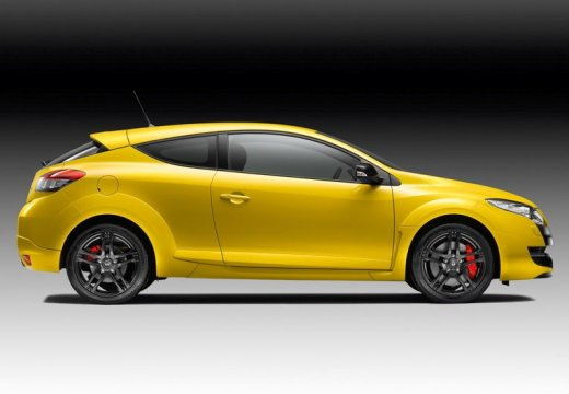 RENAULT Megane III Coupe I hatchback żółty boczny prawy