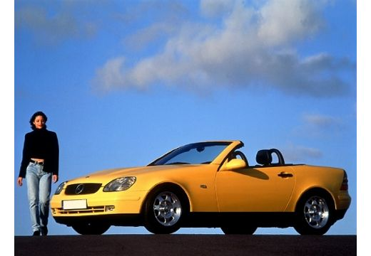 MERCEDES-BENZ Klasa SLK kabriolet żółty przedni lewy