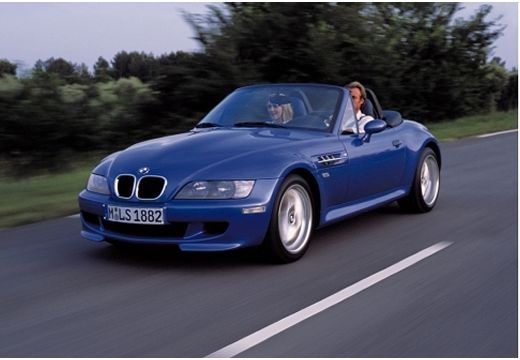 BMW Z3 roadster niebieski jasny przedni lewy