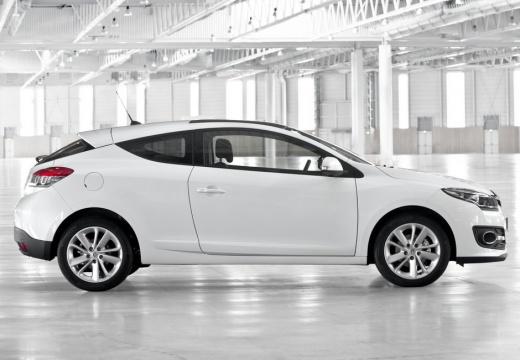 RENAULT Megane III Coupe III hatchback biały boczny prawy
