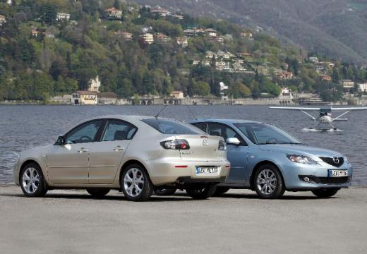 MAZDA 3 II hatchback silver grey
