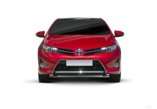 Toyota Auris I hatchback czerwony jasny przedni