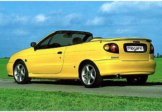 RENAULT Megane Cabrio I kabriolet żółty tylny lewy