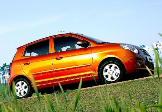 KIA Picanto II hatchback pomarańczowy przedni prawy