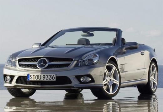 MERCEDES-BENZ Klasa SL roadster silver grey