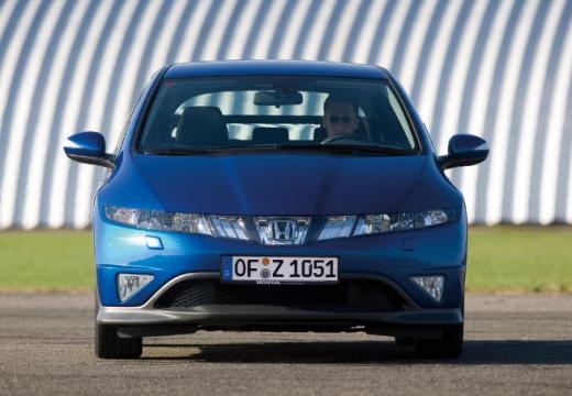 HONDA Civic VI hatchback niebieski jasny przedni