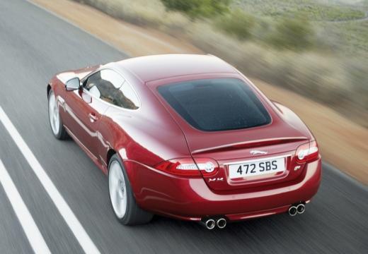 JAGUAR XK II coupe czerwony jasny tylny lewy