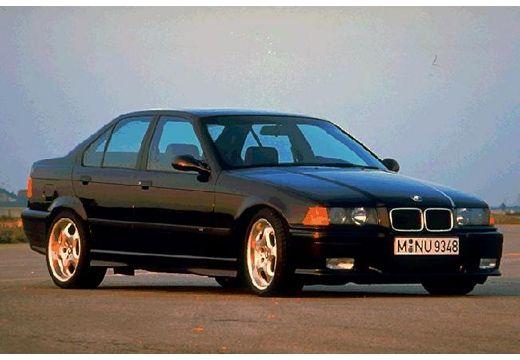BMW Seria 3 E36 sedan czarny przedni prawy