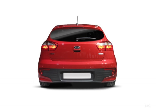 KIA Rio VII hatchback czerwony jasny tylny