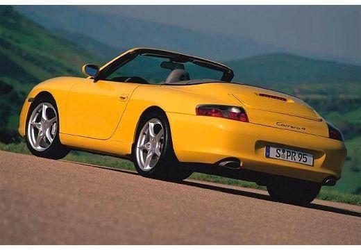 PORSCHE 911 kabriolet żółty tylny lewy