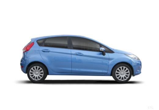 FORD Fiesta VII hatchback niebieski jasny boczny prawy