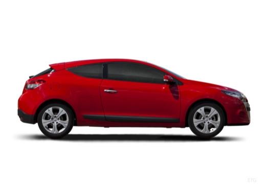 RENAULT Megane III Coupe I hatchback czerwony jasny boczny prawy