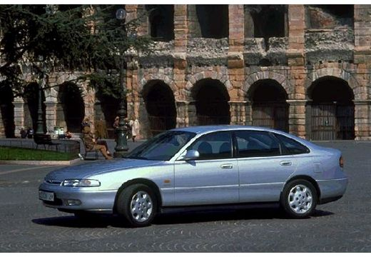 MAZDA 626 III hatchback silver grey przedni lewy