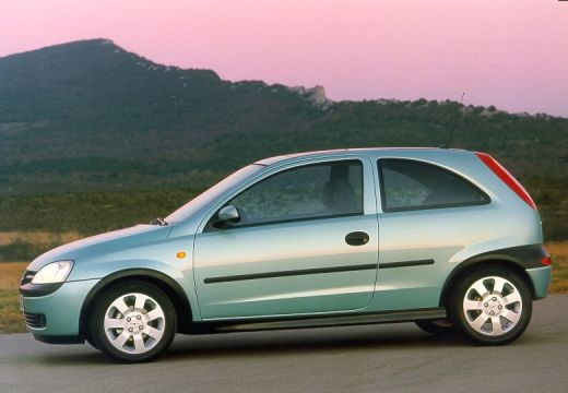 OPEL Corsa hatchback zielony jasny boczny lewy