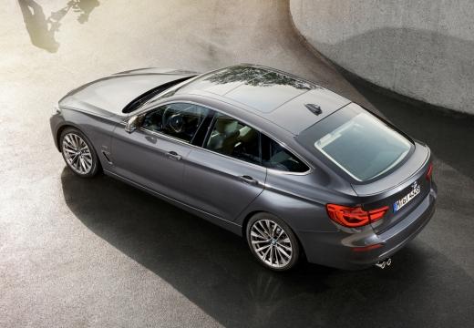 BMW Seria 3 Gran Turismo F34 II hatchback silver grey górny tylny