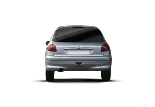 PEUGEOT 206 II hatchback tylny