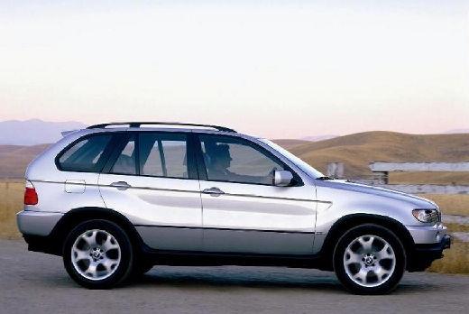 BMW X5 X 5 E53 I kombi silver grey boczny prawy