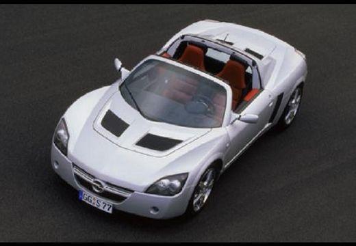 OPEL Speedster roadster silver grey górny przedni