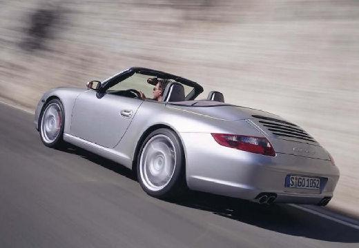 PORSCHE 911 Cabrio 997 kabriolet silver grey tylny lewy