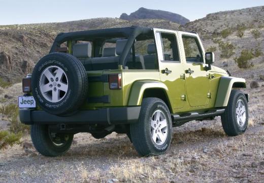 JEEP Wrangler III soft top zielony tylny prawy