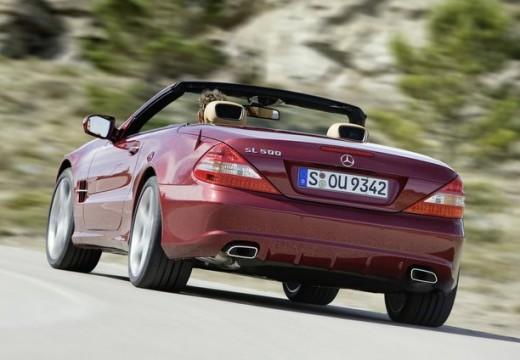 MERCEDES-BENZ Klasa SL roadster czerwony jasny tylny lewy