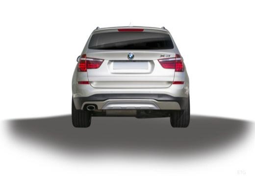 BMW X3 X 3 F25 II kombi silver grey tylny