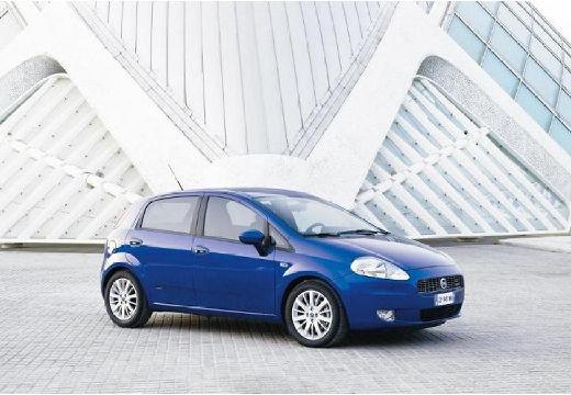FIAT Punto Grande hatchback niebieski jasny przedni prawy