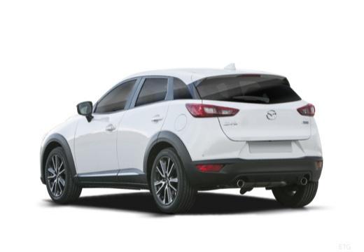 MAZDA CX-3 hatchback biały tylny lewy