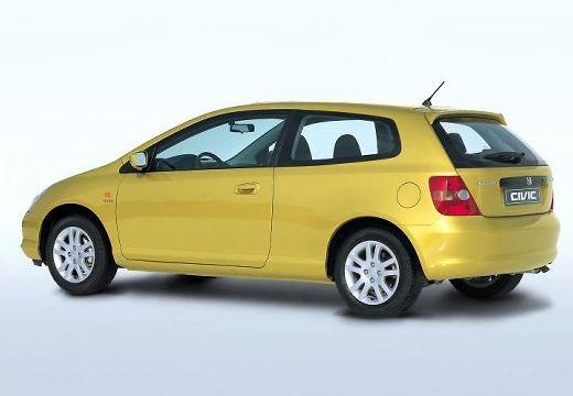HONDA Civic IV hatchback żółty tylny lewy