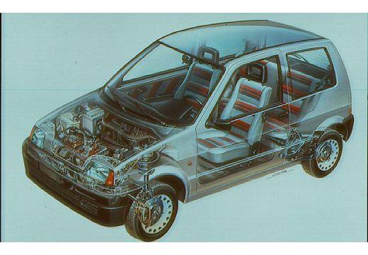 FIAT Cinquecento hatchback prześwietlenie