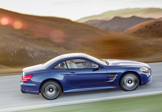 MERCEDES-BENZ Klasa SL roadster niebieski jasny boczny prawy