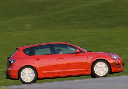 MAZDA 3 II hatchback czerwony jasny boczny prawy