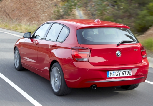 BMW Seria 1 F20 I hatchback czerwony jasny tylny lewy