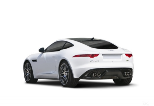 JAGUAR F-Type I coupe biały tylny lewy