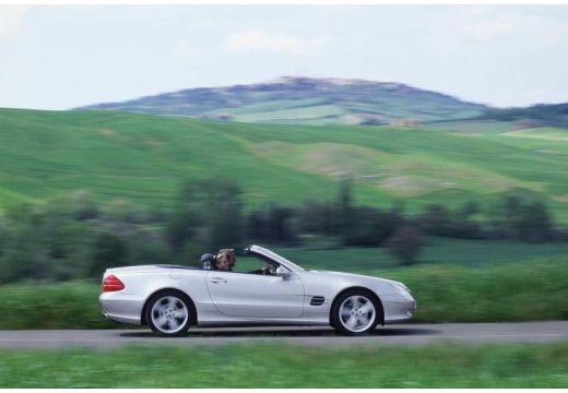 MERCEDES-BENZ Klasa SL roadster silver grey boczny prawy