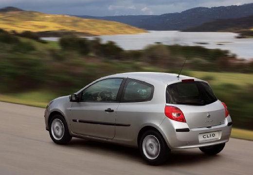 RENAULT Clio III I hatchback silver grey tylny lewy
