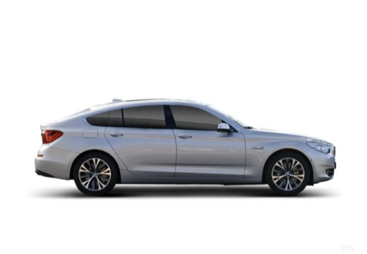 BMW Seria 5 Gran Turismo F07 I hatchback silver grey boczny prawy