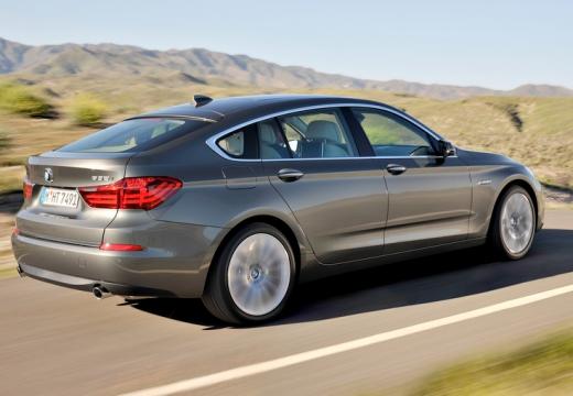 BMW Seria 5 Gran Turismo F07 II hatchback silver grey tylny prawy