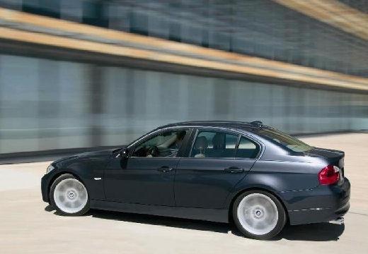 BMW Seria 3 E90 I sedan szary ciemny tylny lewy