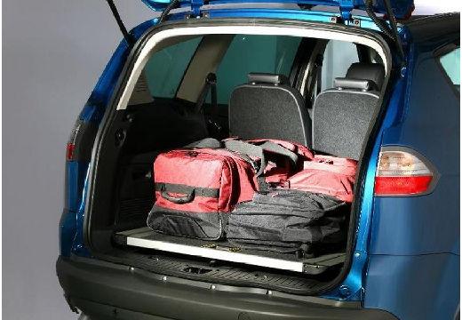 FORD S-MAX I van niebieski jasny przestrzeń załadunkowa