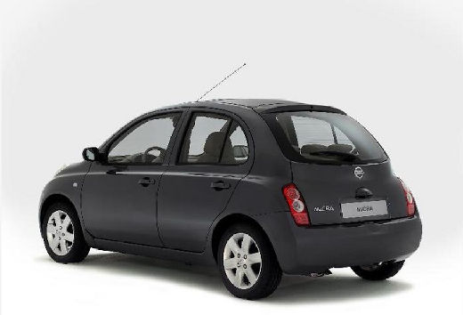 NISSAN Micra VI hatchback szary ciemny tylny lewy
